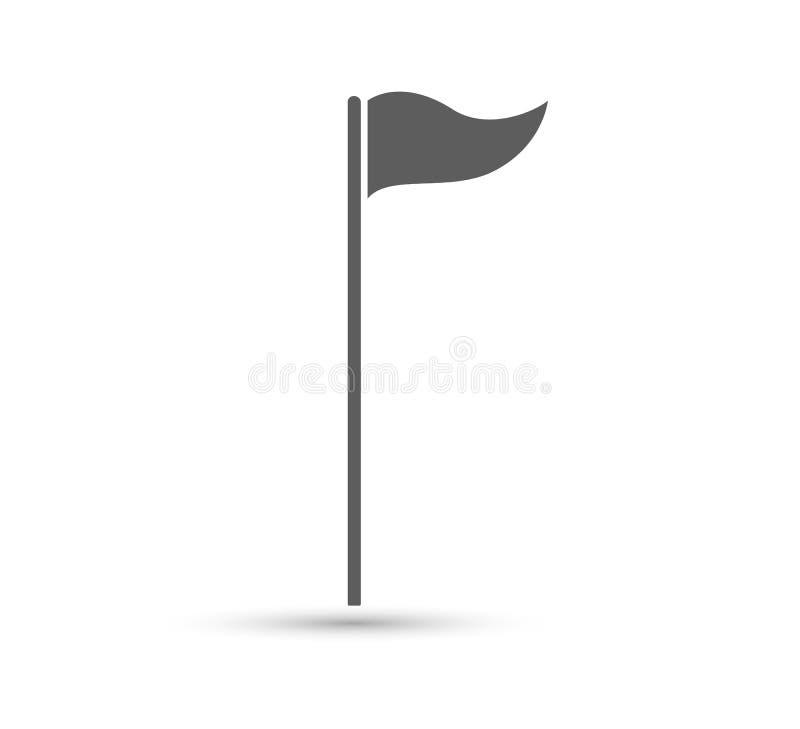 Flaches Zeichen der Golfflaggenvektor-Ikone, kann leicht redigiert werden lizenzfreie abbildung