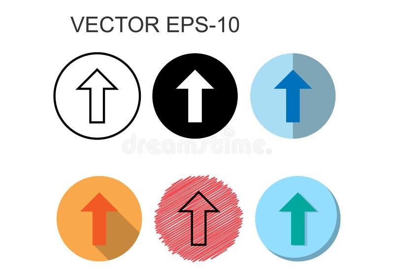 Flachicons, Line Icons, Solid Icons for Arrow up,Vektorgrafiken stock abbildung