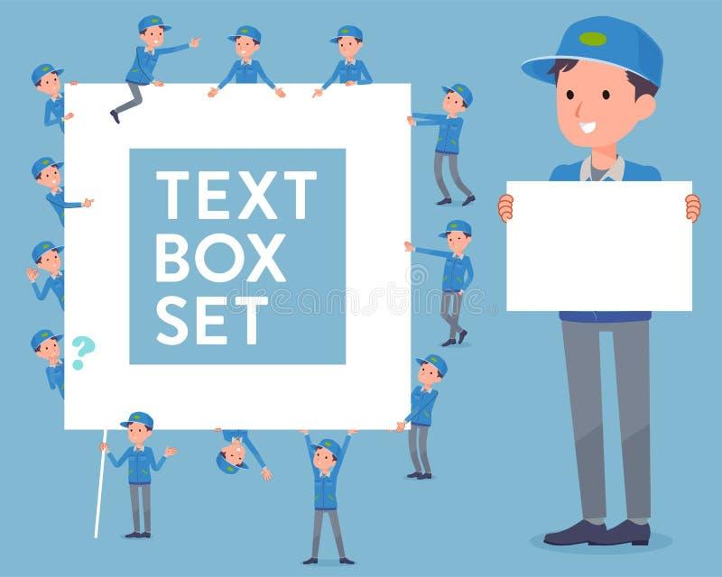 Download Flachlieferung Men_text Kasten Vektor Abbildung - Illustration von ikone, deliveryman: 96933814