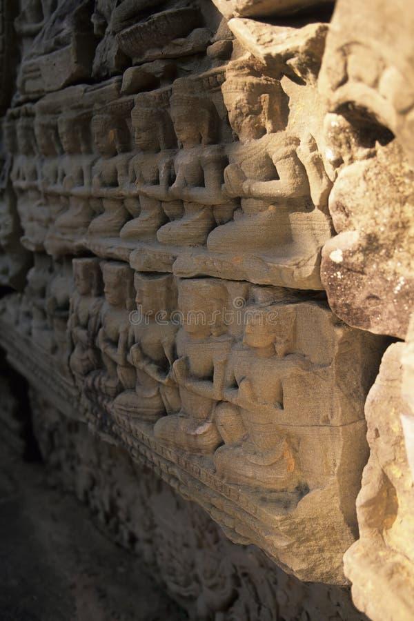 Flachrelief Angkor Wat, Kambodscha lizenzfreie stockfotografie