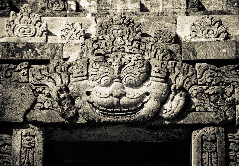 Flachreliefs des Prambanan Tempels, Java, Indonesien stockfotografie