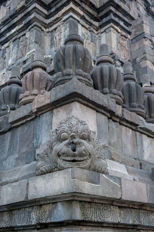Flachreliefs von Prambanan-Tempel, Java, Indonesien stockfotografie