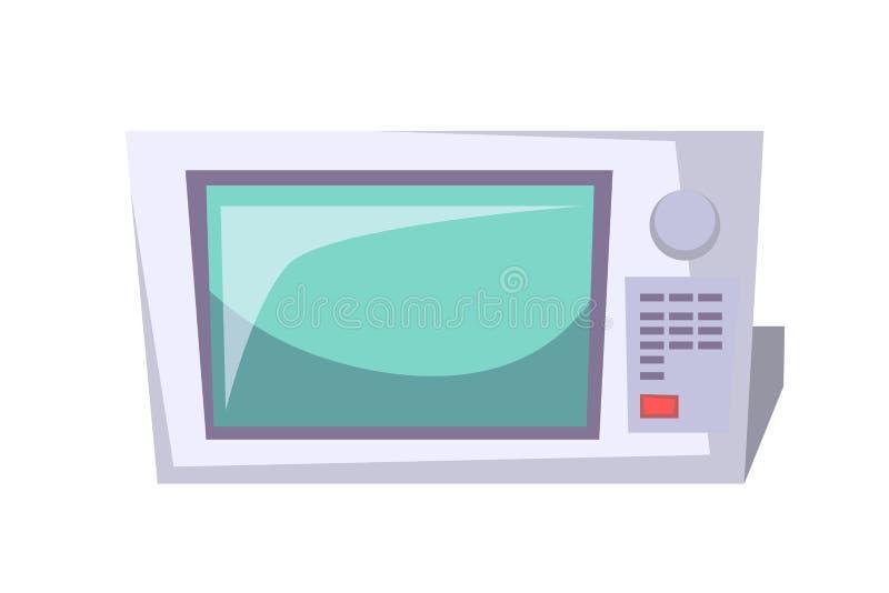 Flachvektordiagramm für Mikrowellengeräte Elektrogeräte für den Haushalt, Unterhaltungselektronik Küchenutensilien vektor abbildung