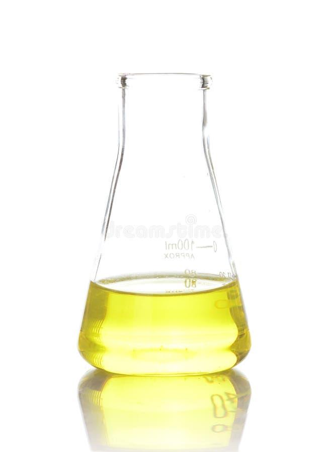 Flacon chimique de laboratoire photographie stock libre de droits
