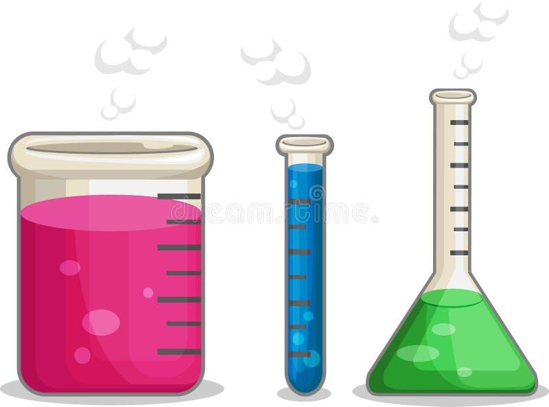 Flacon de produit chimique de Laboratorium illustration stock