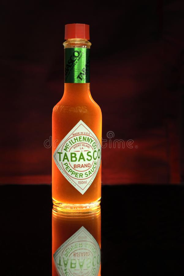 Flacon de Tabasco photographie stock