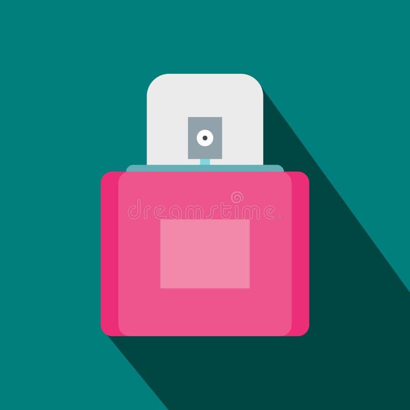 Flacon fêmea cor-de-rosa do perfume com ícone do pulverizador ilustração do vetor