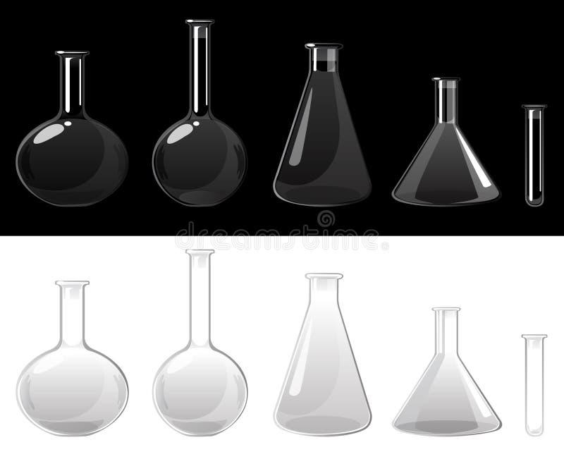 Flacons en verre illustration stock