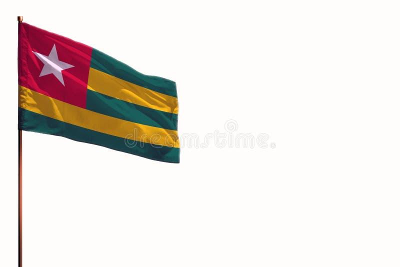 Fladderend Togo isoleerde vlag op witte achtergrond, model met de ruimte voor uw inhoud royalty-vrije stock foto's