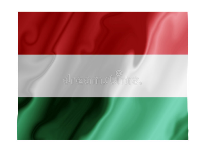 fladdrande hungary stock illustrationer
