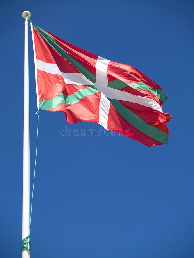 fladdrande wind för basque flagga royaltyfria foton