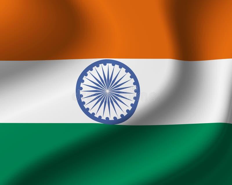 flag Индия иллюстрация вектора