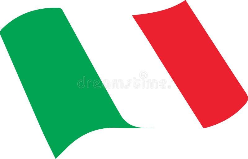 flag итальянка иллюстрация штока