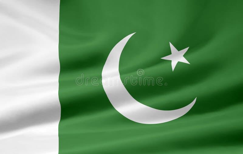 flag Пакистан иллюстрация вектора