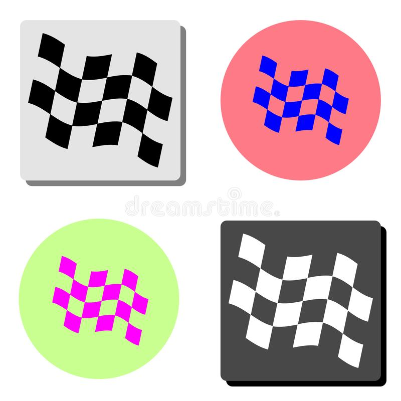flag участвовать в гонке Плоский значок вектора иллюстрация вектора