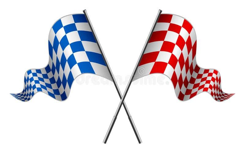 flag участвовать в гонке иллюстрация штока