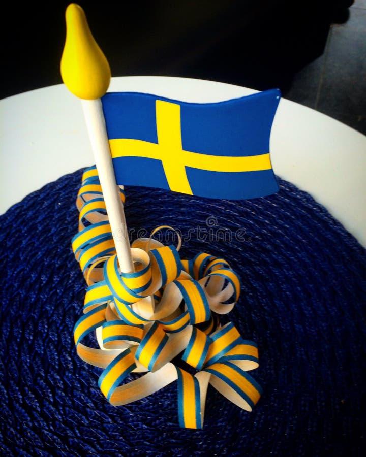 flag шведские языки стоковое изображение rf