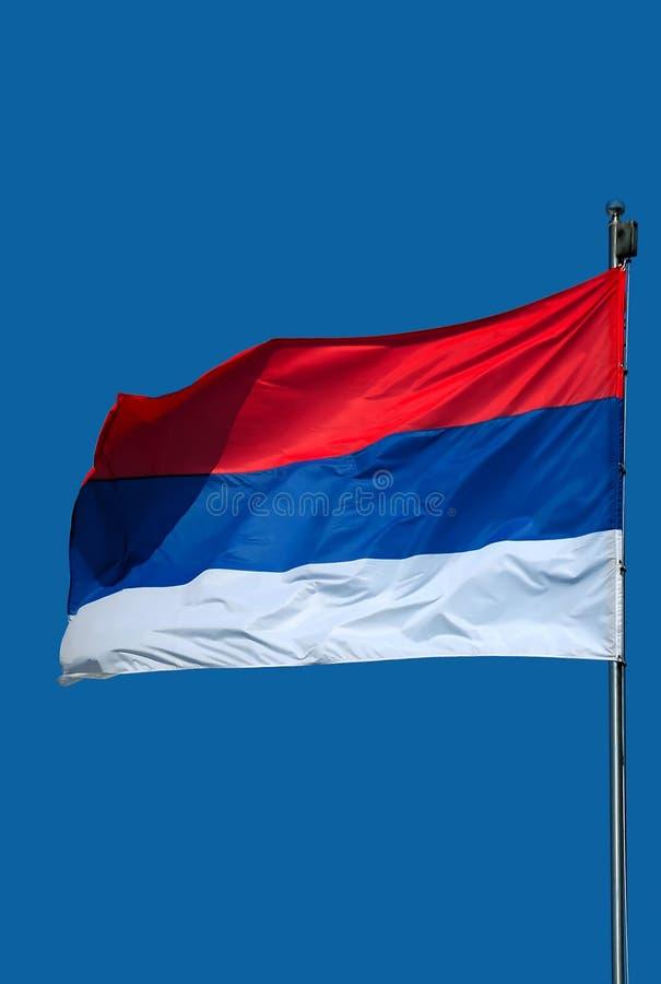Flag-1 sérvio foto de stock