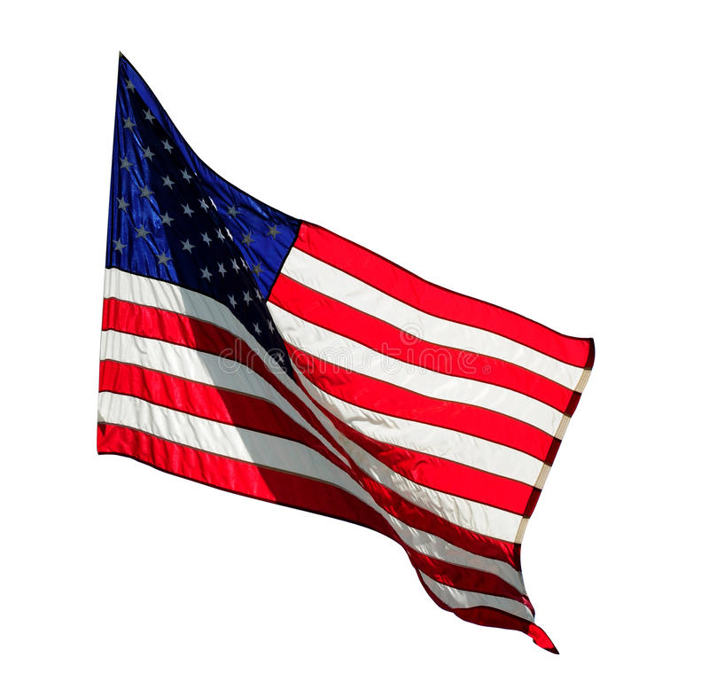 Flag. American flag on a white background royalty free stock images