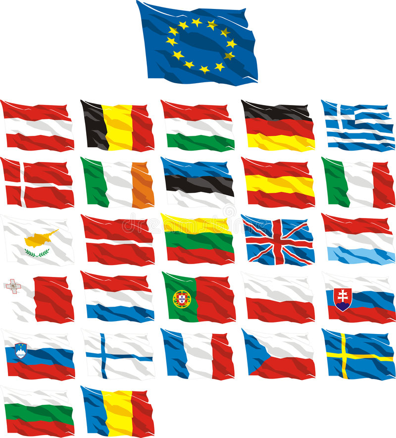 Flag. Country, country, day, europe, european, flag, flags royalty free illustration