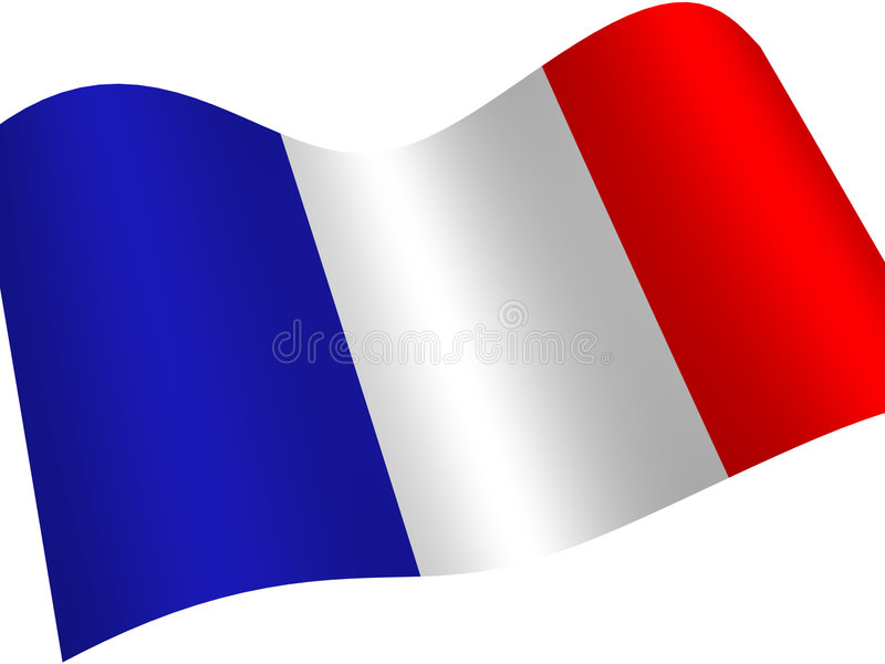 Flag. The graphic three-dimensional image. France. National Flag vector illustration