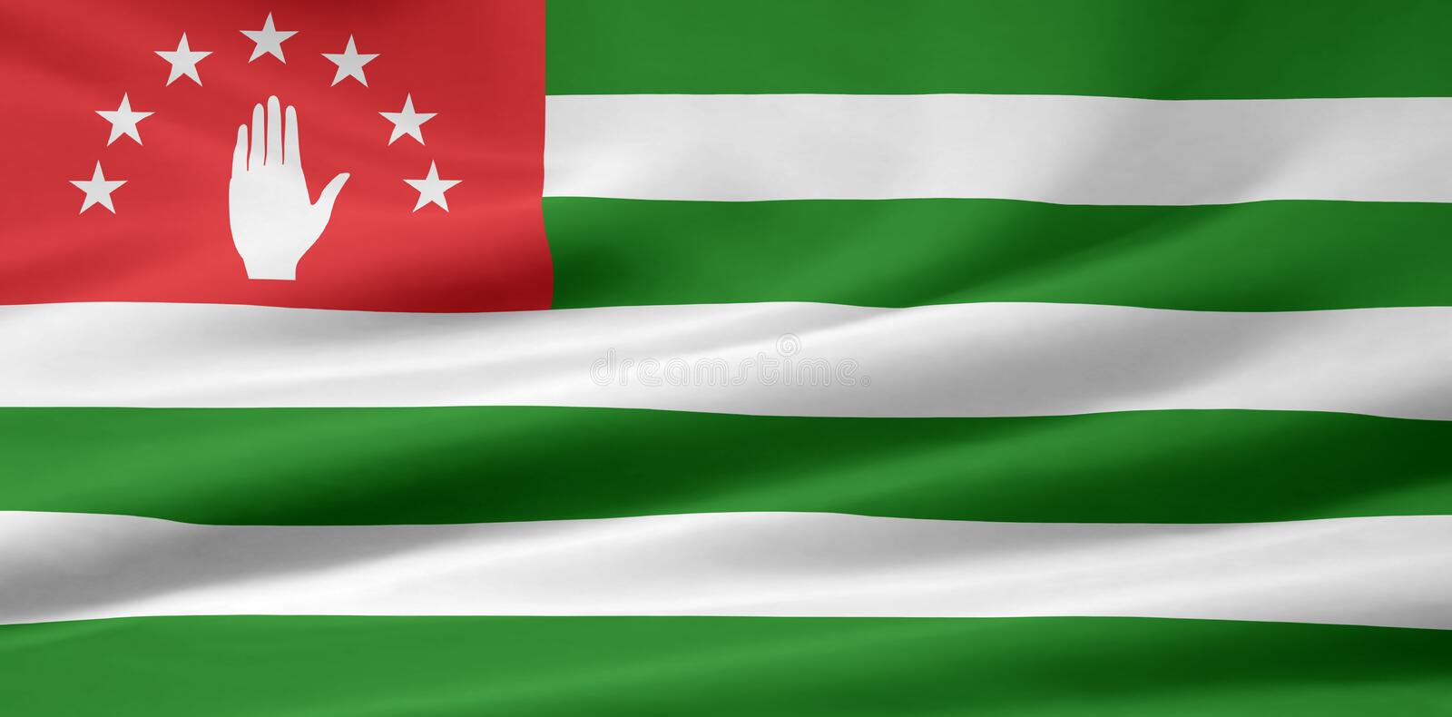 Flag Of Abkhazia Stock Images