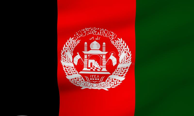 Flag of Afghanistan. Close up. Front view royalty free stock photos