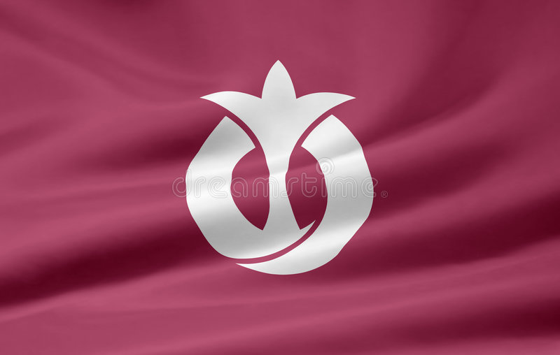Flag of Aichi - Japan stock image