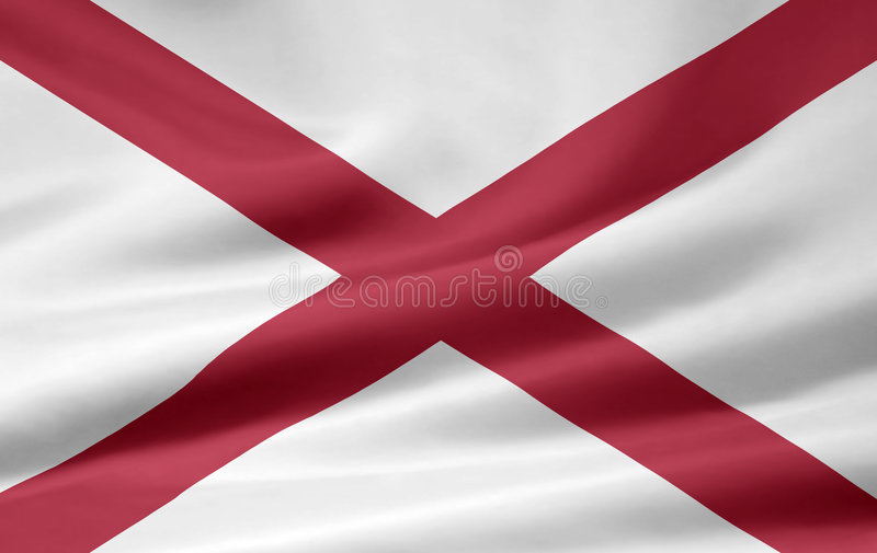 Flag of Alabama. A very large version of the flag of Alabama stock illustration