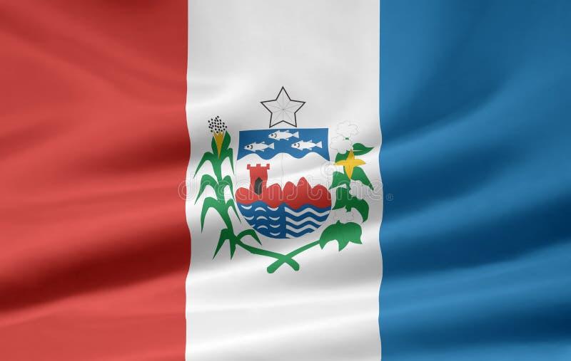 Flag of Alagoas. The flag symbolizes the brazil state of Alagoas stock illustration