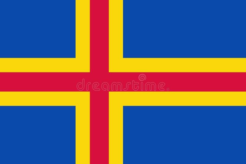 Flag of the Aland Iceland. Vector illustration. World flag stock illustration