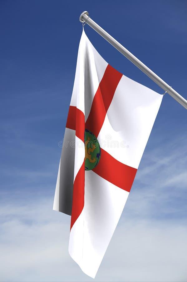 Flag of Alderney stock image