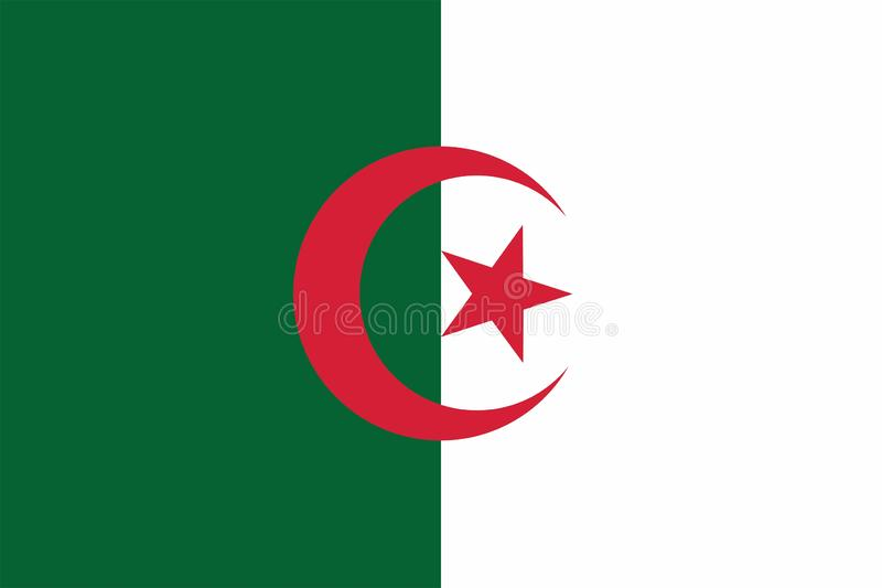 Algeria Flag royalty free illustration