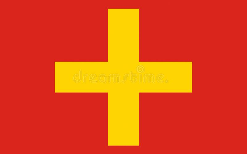 Flag of Ancona of Marche, Italy royalty free stock images