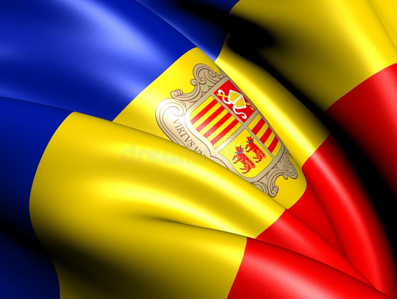 Flag of Andorra royalty free illustration