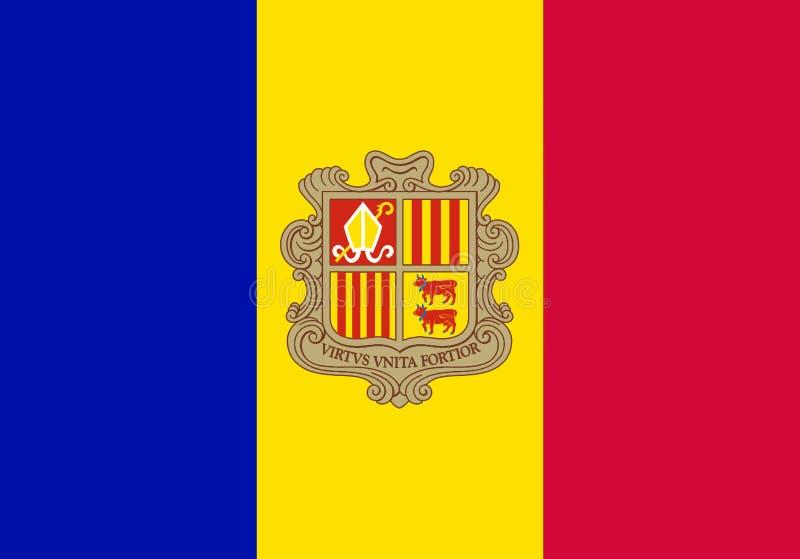 Flag of Andorra stock illustration