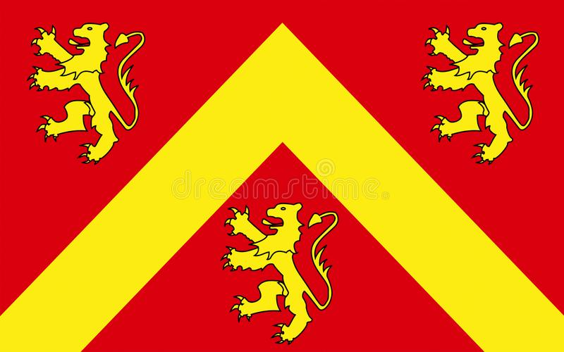 Flag of Anglesey or Ynys Mon is island of Wales. Flag of Anglesey or Ynys Mon is an island of the north-west coast of Wales, United Kingdom of Great Britain stock photos