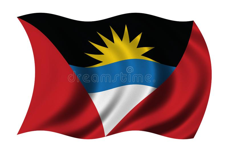 Flag of Antigua and Barbuda royalty free illustration