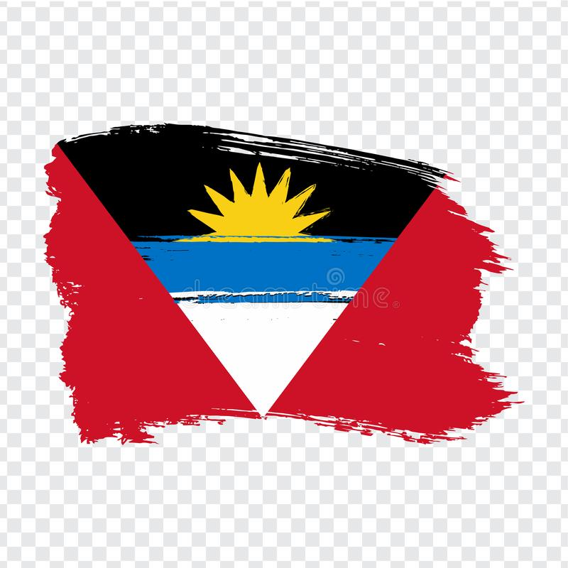 Flag Antigua and Barbuda  from brush strokes. Flag Antigua and Barbuda on transparent background for your web site design, logo, a. Pp, UI. Stock vector.  EPS10 stock illustration