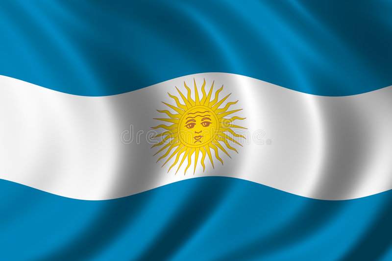 Flag of Argentina royalty free illustration