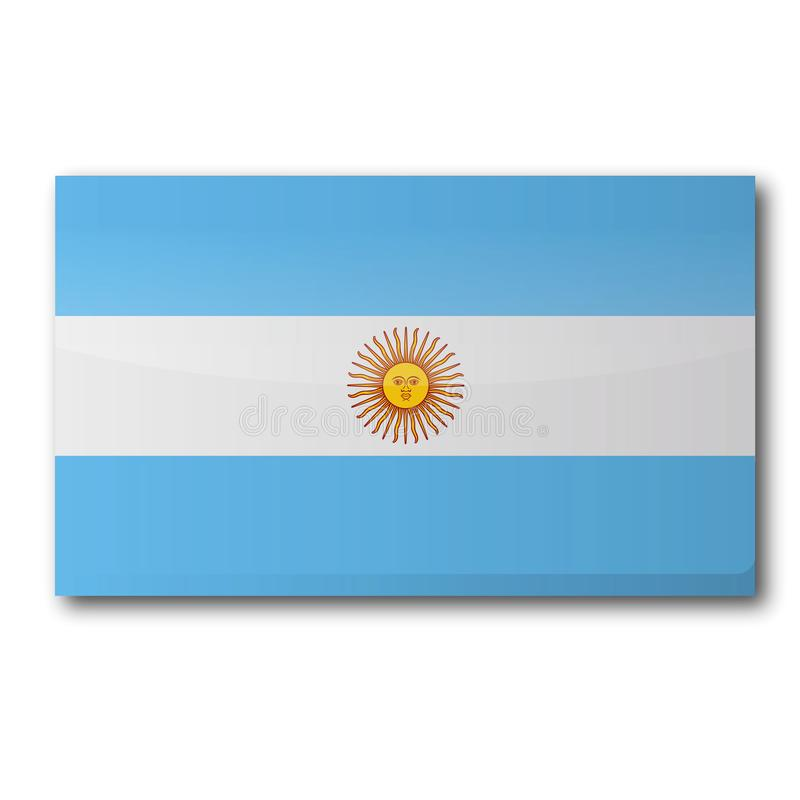 Flag of Argentina. In South America vector illustration