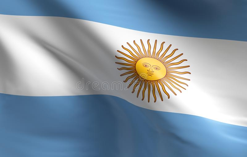 Flag of Argentina. Using as background, 3d rendering stock illustration