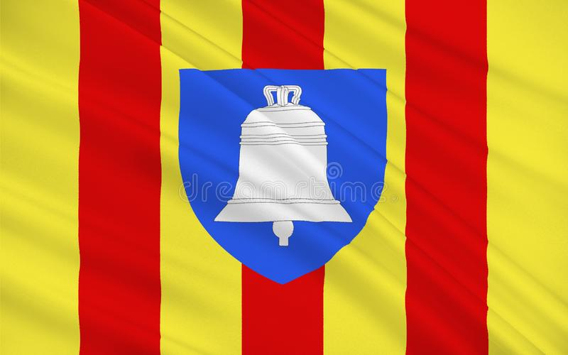 Flag of Ariege, France. Flag of Ariege is a department in the Languedoc-Roussillon-Midi-Pyrenees region of southwestern France named after the Ariege River. Its royalty free stock images