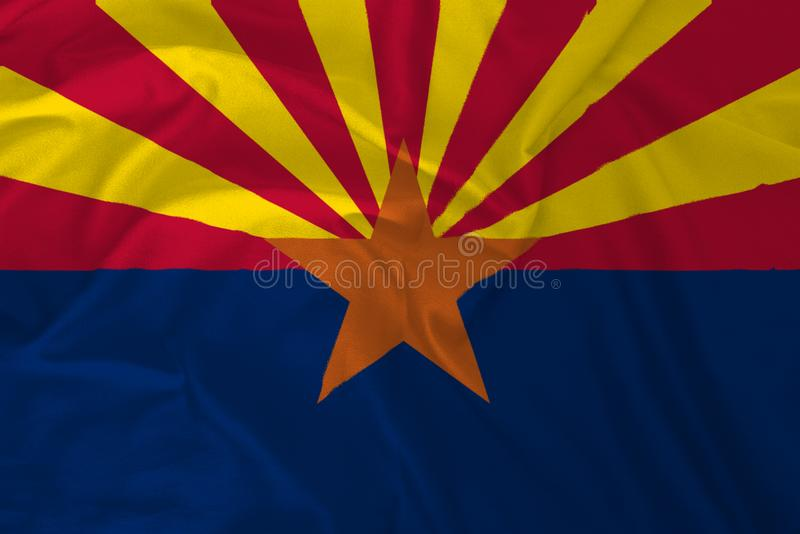 Flag of Arizona Backgroud, The Grand Canyon State stock illustration