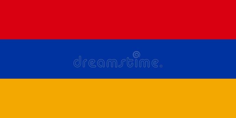 Flag of Armenia, the Armenian Tricolour royalty free illustration