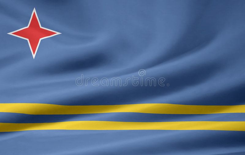 Flag of Aruba royalty free illustration