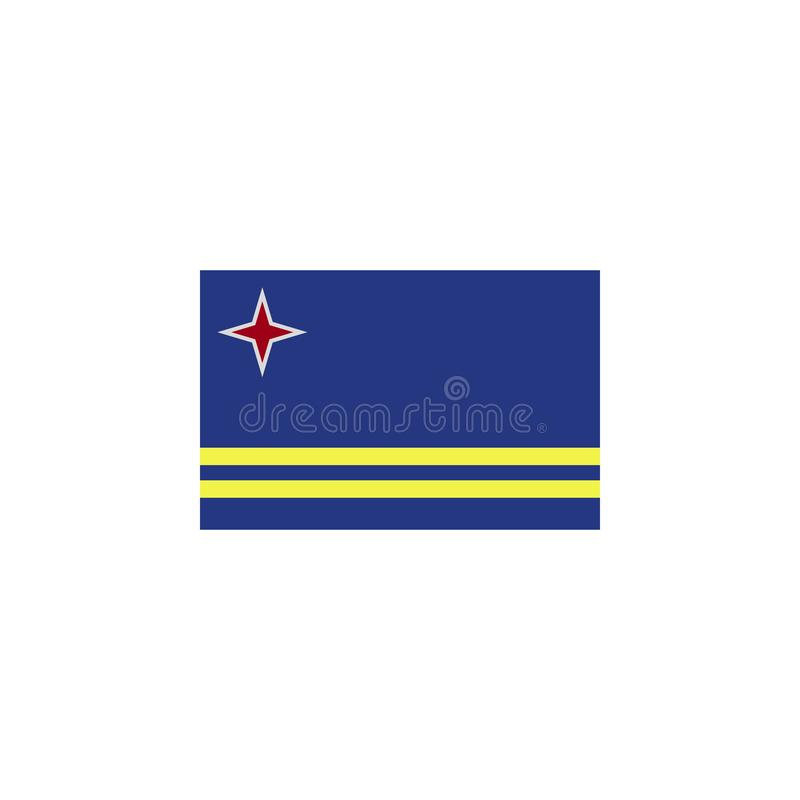 flag of Aruba colored icon. Elements of flags illustration icon. Signs and symbols can be used for web, logo, mobile app, UI, UX vector illustration