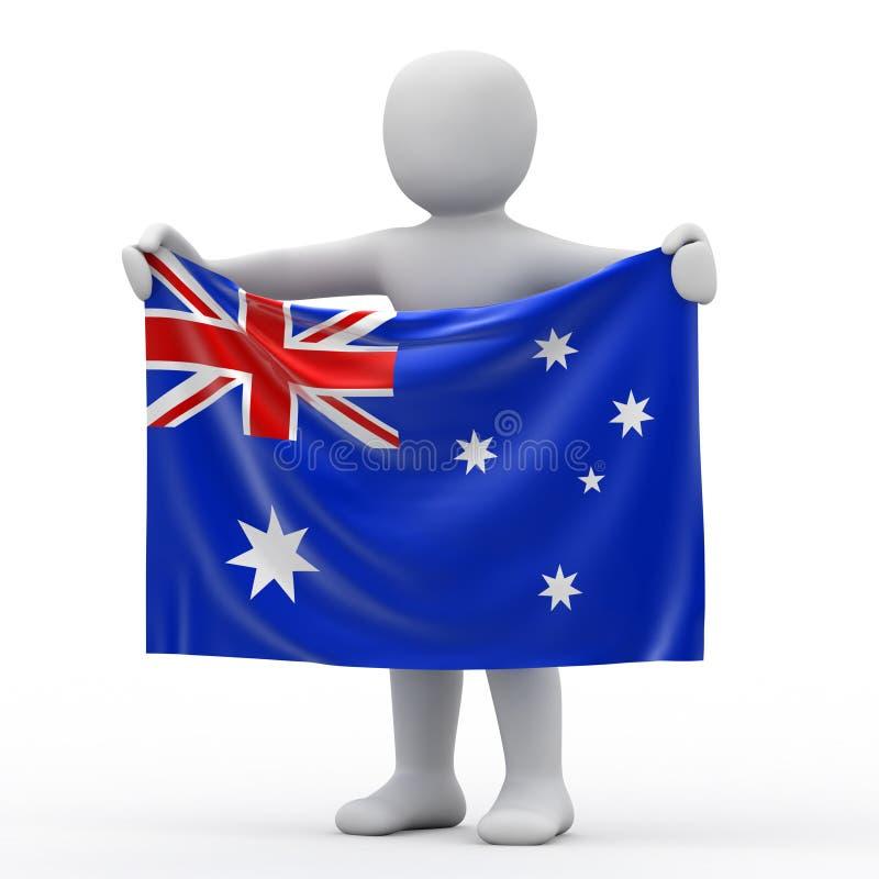Flag of Australia. Flag of Australia and white personage