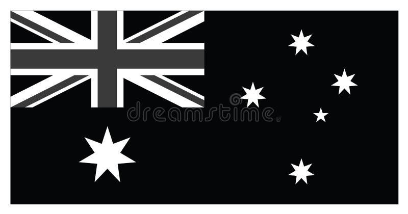 Black flag of Australia royalty free illustration