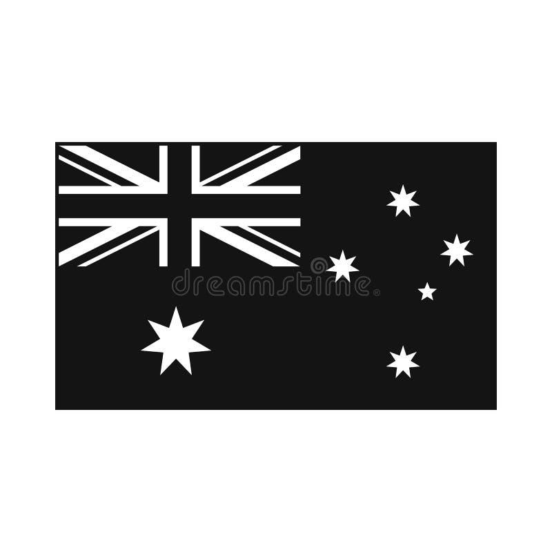 Flag of Australia icon, simple style. Flag of Australia icon in simple style on white background royalty free illustration